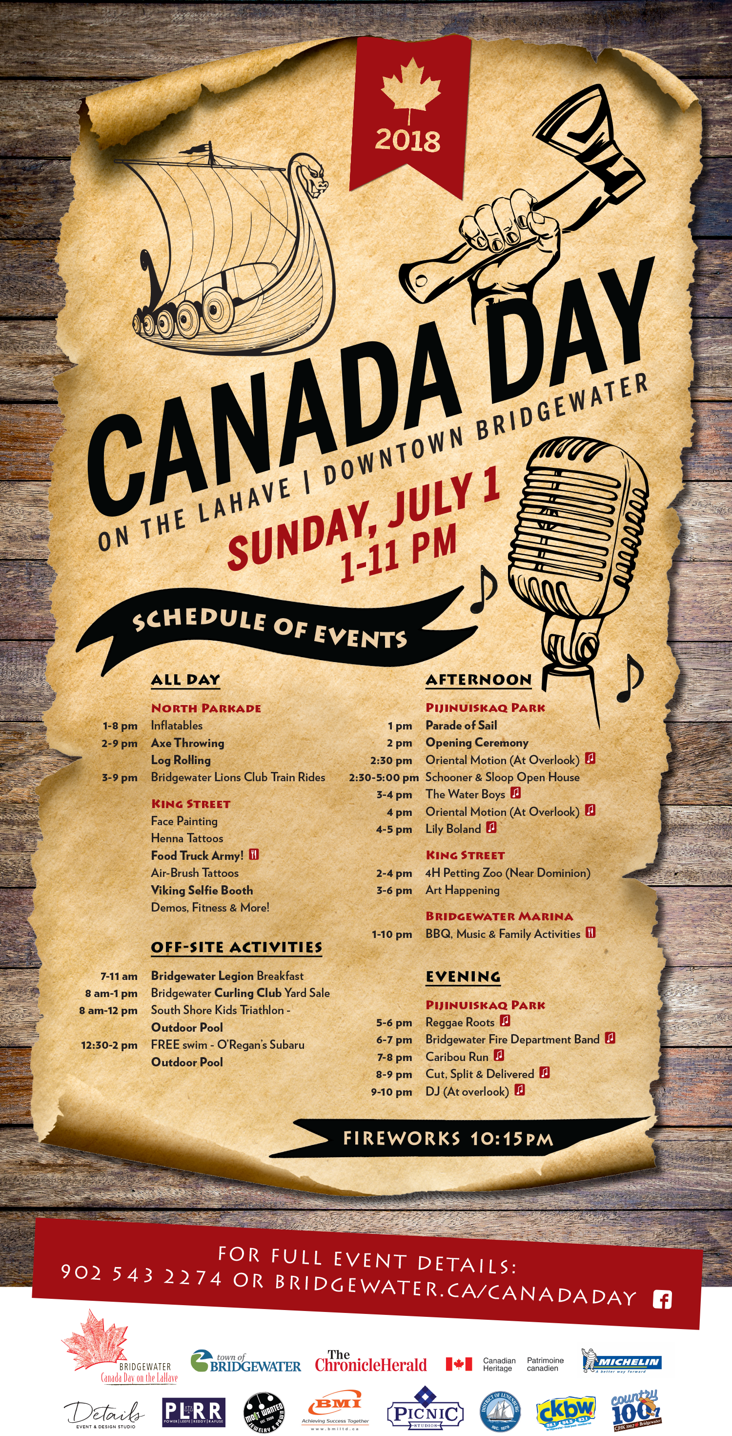 Canada Day 2018 Full Sched
