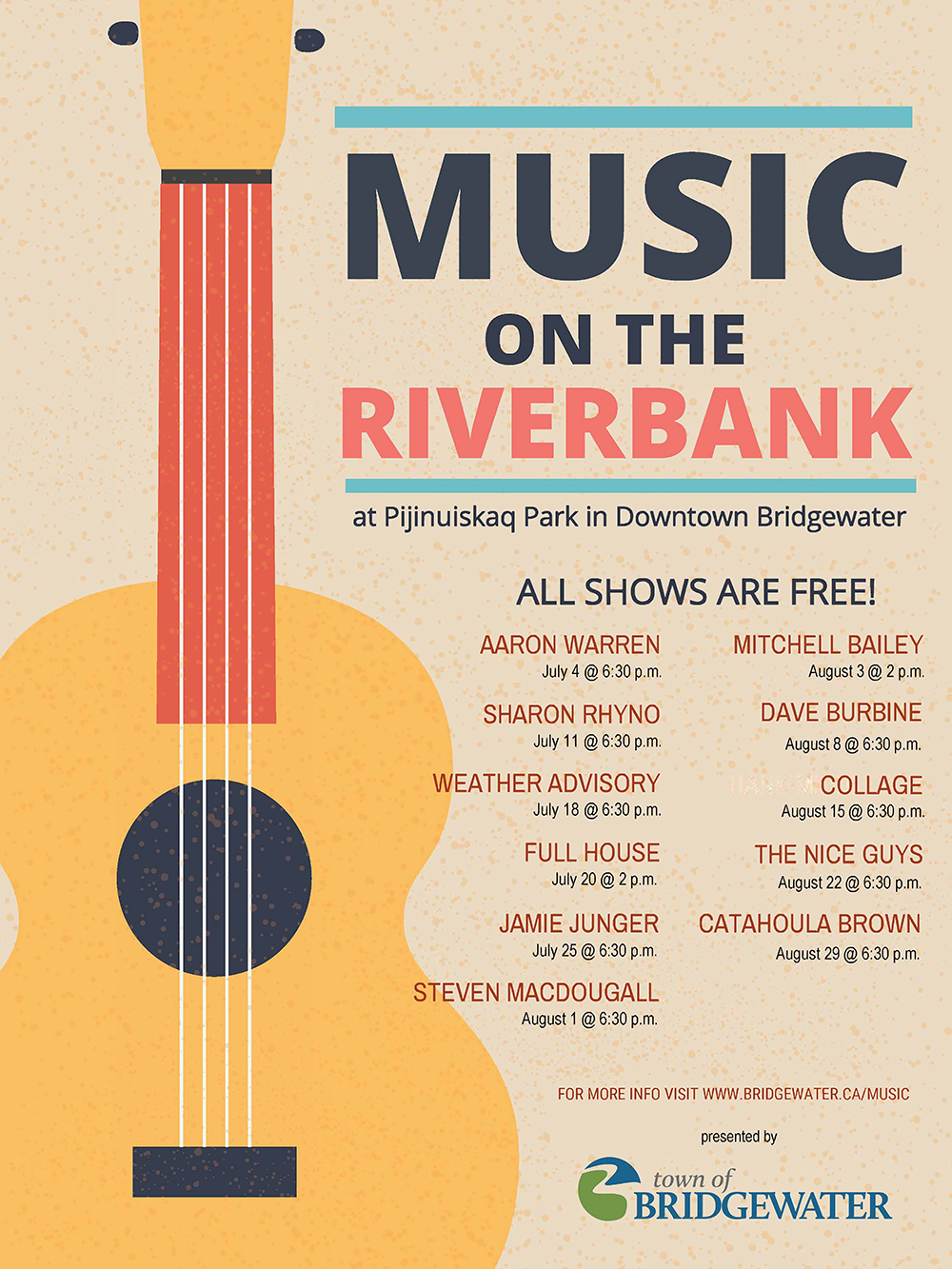 TOB Music on the Riverbank 2019 All performer poster V2.2 sm