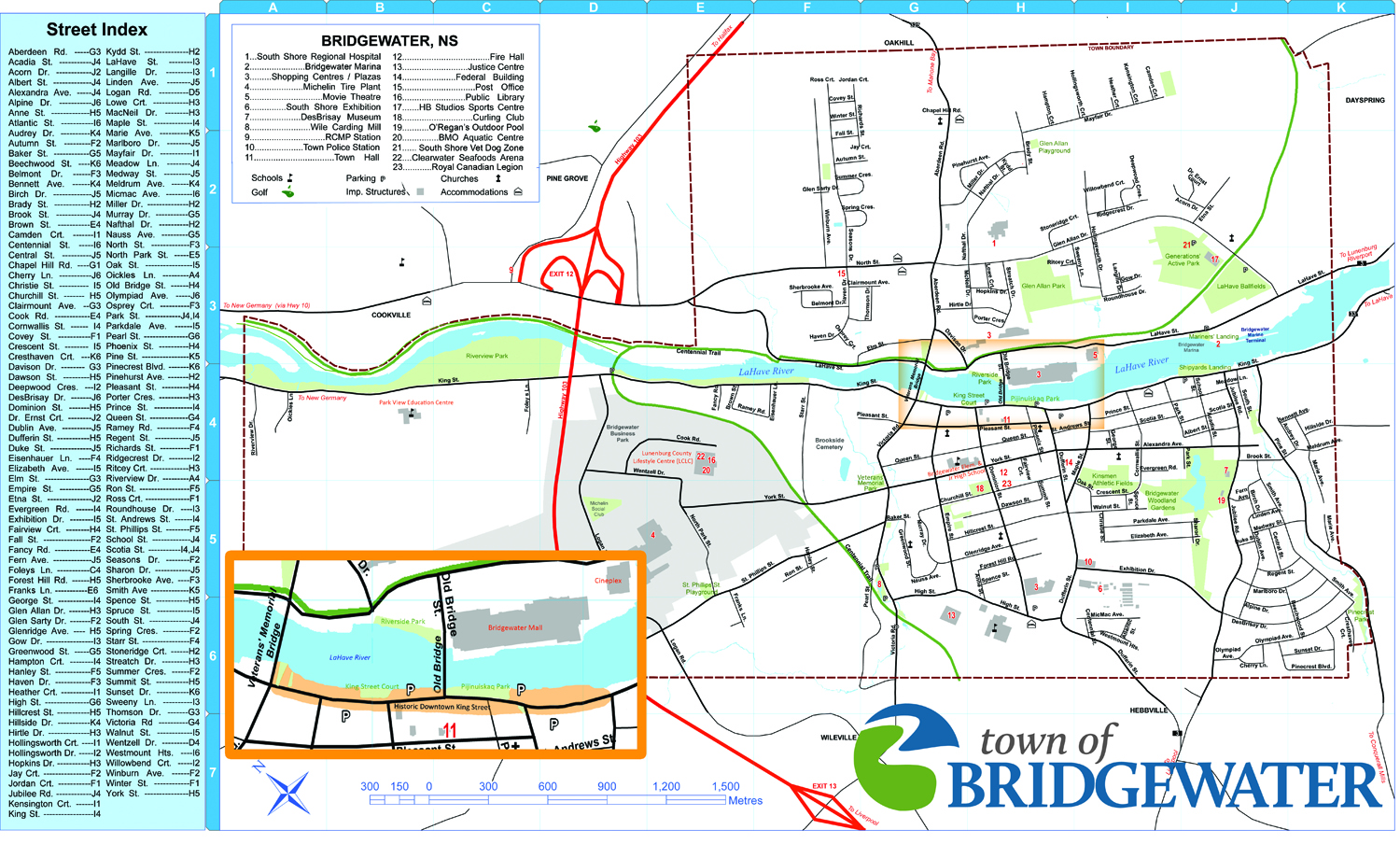 Town of Bridgewater Town Map