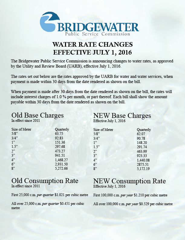 Water Notice 2016 Draft Revised