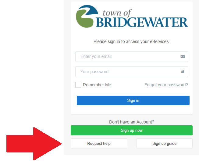 Town of Bridgewater - eServices Guide and Login